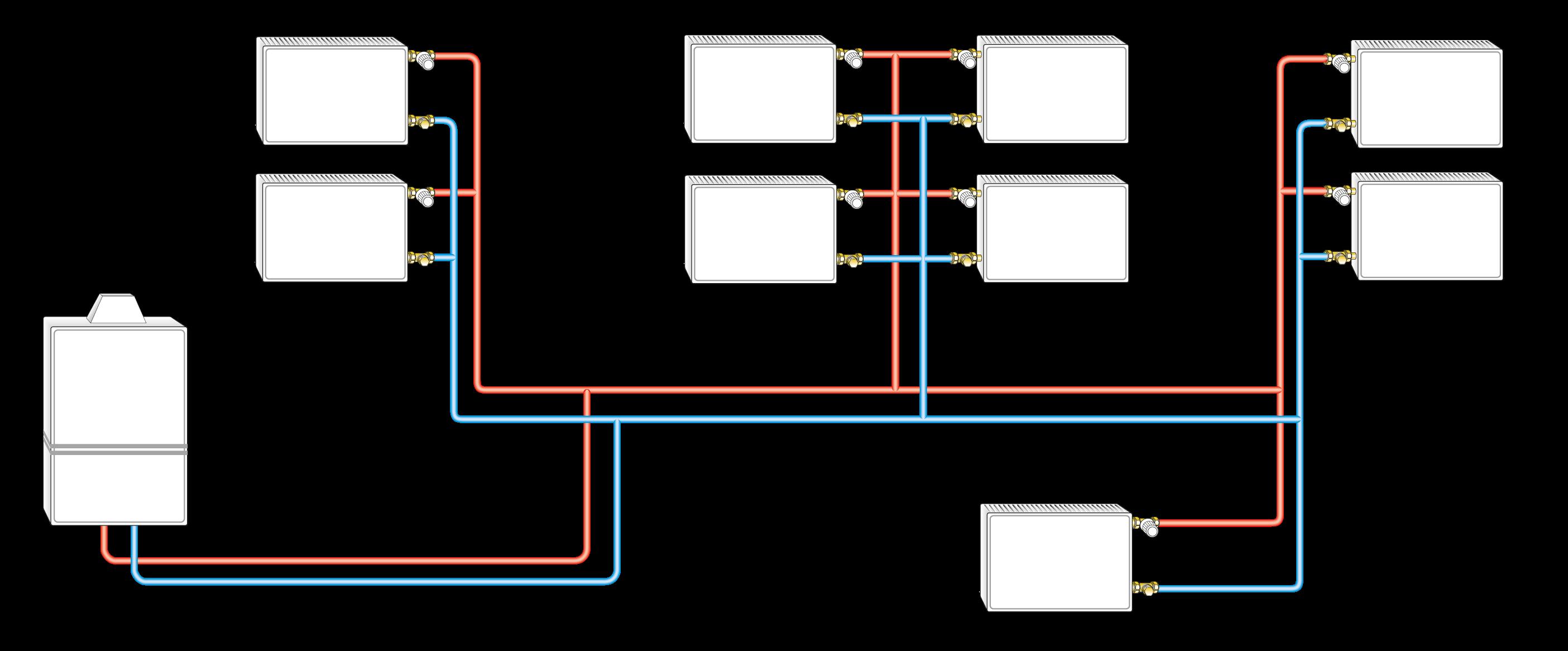 Einfache Anlagensituation mit kompaktem Wandheizgerät inkl. Pumpe